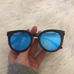 Cat eye blue sunglasses